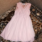 Шикарное шифоновое платье classic tricot нежное состояние отличное