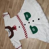 Новогоднее платье Снеговик Primark XL