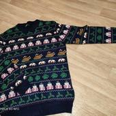 Peacoks L. Тонкий свитерок в НГ стиле