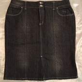 Джинсовая итальянская юбка XL/50