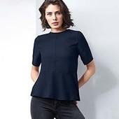 Стильная блуза с воланом Tchibo (Германия), размер евро 42 (наш 48)