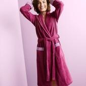 Женский халат ягодного цвета от tcm tchibo, германия, р.42/44+