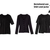 элегантный комплект: кардиган с длинным рукавом +рубашка с коротким рукавом от blue motion