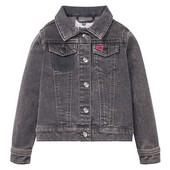 В подарок реглан! Шикарный джинсовый пиджак девочке . Рост 104. Сотни лотов.