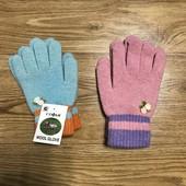 Перчатки новые на девочку 8-9 лет и старше