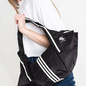 Новая черная сумка расцветка Адидас