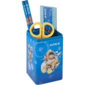Комплект канцелярского набора Kite.Металлический стакан,линейка,карандаши,ножницы.В лоте один на выб