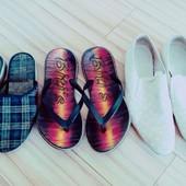В хорошем состоянии 3 пары мужской обуви 1 лотом 44р.