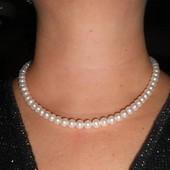 Ожерелье из белого жемчуга 8-9 мм