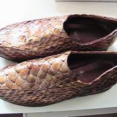 шикарные туфли кожаные 40/41р стельки 26,5 см