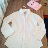Стоп!! Фирменная удобная яркая натуральная красивая стильная рубашка-блуза от h&m