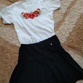 Одним лотом девочке для школы: вышиванка+юбочка, рост 130-140 см