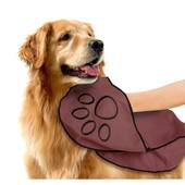 Полотенце двустороннее большое 70*140см для крупных собак в форме косточки Zoofari