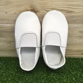Чешки белые кожаные по стельке на широкую ногу пройдут, 19.5 см