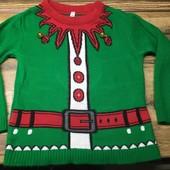 12.Много классных лотов!новогодний свитер с колокольчиками на 2-3 года
