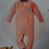 Kuniboo шикарный велюровый комбинезон человечек слип пижама Германия!