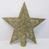 """Верхушка, звезда на новогоднюю елку 13,5 см """" Merry Christmas"""""""
