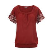 ☘ Красива стильна блуза з перфорованою вишивкою, Tchibo (Німеччина), р .: 50-52 (44/46 євро)