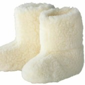 ❤️Германия❤️100% натуральная шерсть теплые высокие тапочки, противоскользящая подошва 39-41
