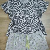Классная котоновая пижама/наборчик вещей для сна большого размера, р.20/22 в хорошем состоянии