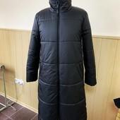 Стильный легенький пуховик/пальто в черном цвете - Синтепух 200.