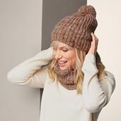☘ В'язана тепла шапка від Tchibo (Німеччина), розмір універсальний