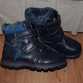 Зимние ботинки, на теплом меху 35р.(21.5-22см)