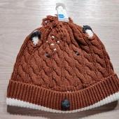Англия! Демисезонная шапка для мальчика! 6-12 месяцев!