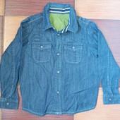 Джинсовая рубашка на 4-5 лет