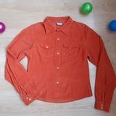 Оранжева вельветова рубашка р.152