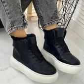 Крутые ботиночки хайтопы на платформе.Маломер 37-40