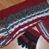 Зимний комплект: шарф+шапочка. польша (перчатки в подарок)