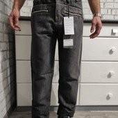 Мужские джинсы на флисе батал