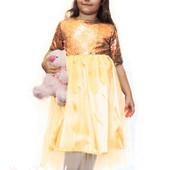 Детское платье золото пайетка