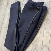 Тёплые школьное брюки фланель . Стильные и качественные Темно синие