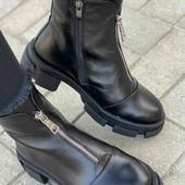 Кожанные зимние ботинки  24  см по стельке