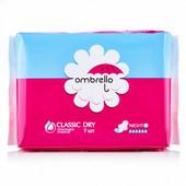 Прокладки гигиенические женские Ombrello Classic Night Dry с крылышками 7 шт. в упаковке