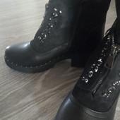 Шикарные модные ботинки на тракторной подошве! Зима! Качество!