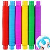 Хит продаж Развивающая сенсорная игрушка гофрированные трубки Pop Tube антистресс поп туб