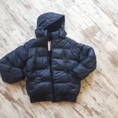 Куртка синяя. Очень теплая зима' утеплитель' флис р170' S. 14++