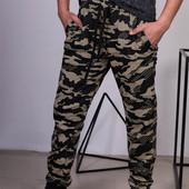 Начос!Камуфляжні штани з начосом для мужчин,підлітків,двухнитка 100%котон Узбекистан р.48-56.Якість!