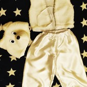 Карнавальный костюм белый мишка 4-6 лет