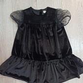 Платье бархатное,нарядное 4-5 лет.