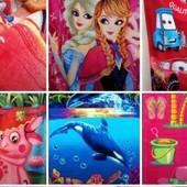 Новинки сезона!Махровые пляжные полотенца 140х70см отличного качества, для взрослых и деток!