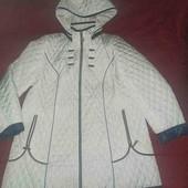 модная стёганая курточка белого цвета р.60
